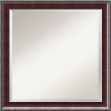 Country Walnut Mirror - Square Office Art