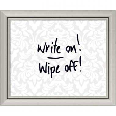 Grey & White Damask Dry-Erase Board - Small Office Art