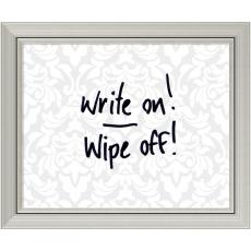All Motivational Posters - Grey & White Damask Dry-Erase Board - Small Office Art