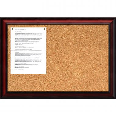 Rubino Cork Board - Medium Office Art