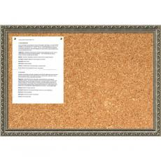 Closeout and Sale Center - Parisian Silver Cork Board - Medium Office Art