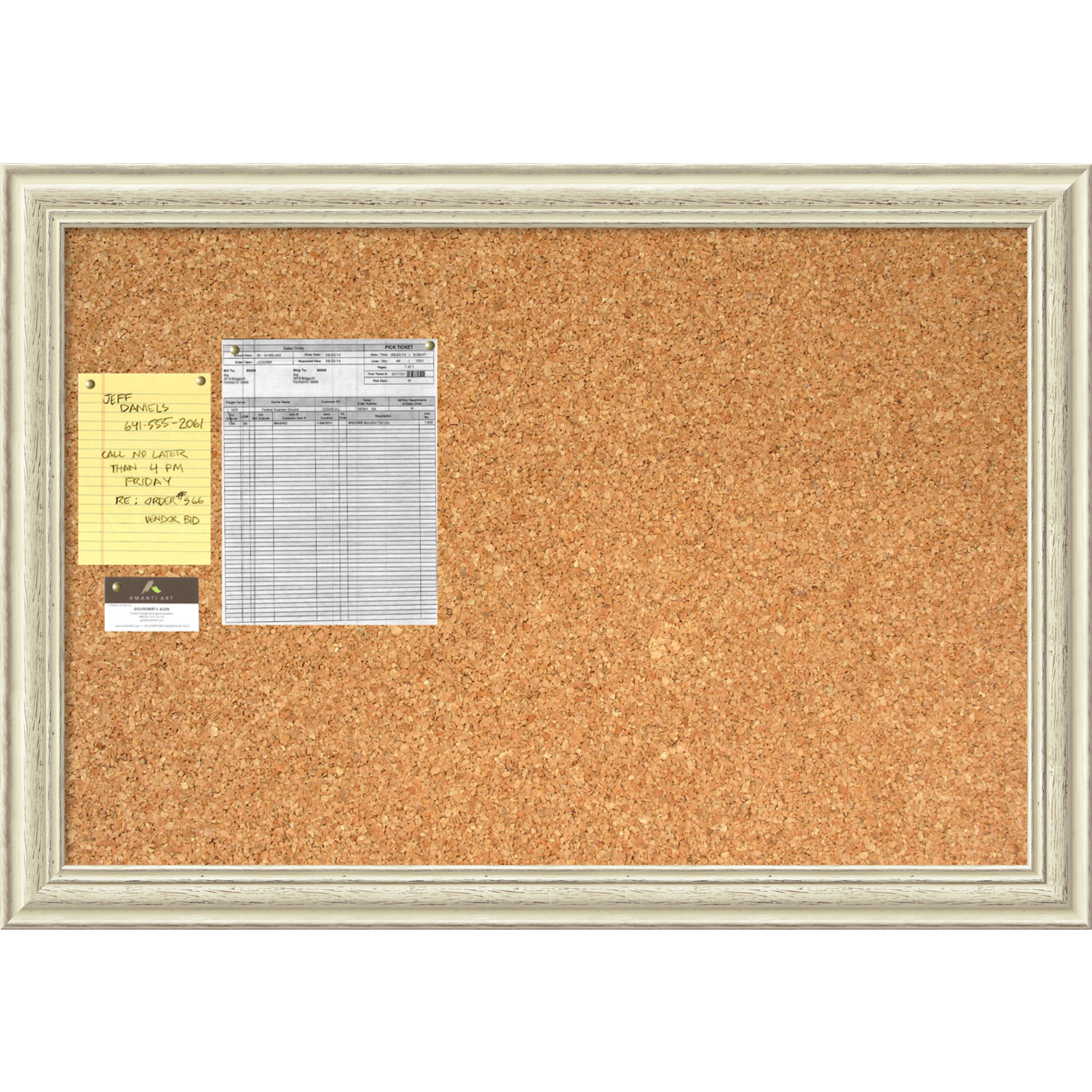 Country Whitewash Cork Board Large Office Art