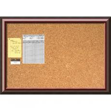 Closeout and Sale Center - Cambridge Mahogany Cork Board - Large Office Art