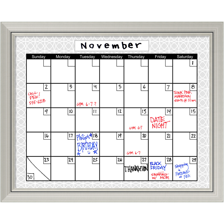 Medallion Grey Dry-Erase Board Calendar Office Art | Successories