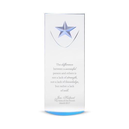 Blue Star-Dome Acrylic Award