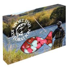 Candy, Food & Gifts - Customizable Fish Box Packaging with Hearts