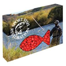 Candy, Food & Gifts - Customizable Fish Packaging with Cinnamon Red Hots