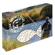 Candy, Food & Gifts - Customizable Fish Box Packaging with Signature Peppermints
