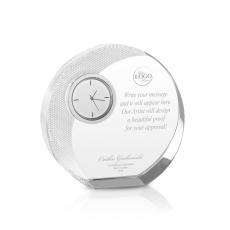 Engraved Clock Awards - Power of Attitude Crystal Clock Award