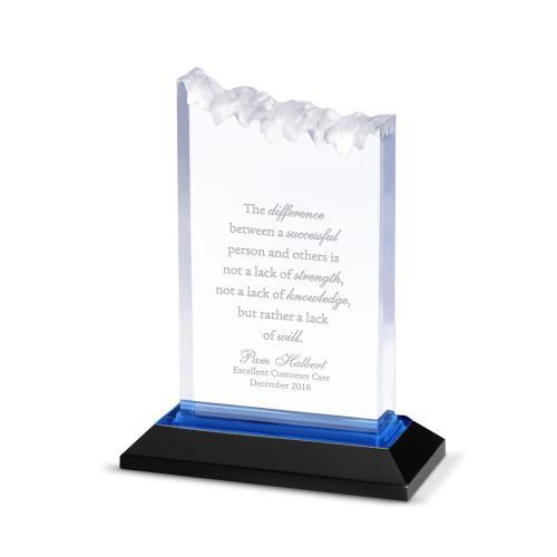 Blue Summit Reflection Acrylic Award