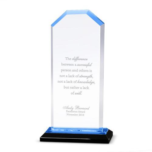 Blue Cornerstone Reflection Acrylic Award