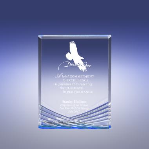 Blue Vision Eagle Acrylic Award