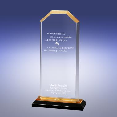 Gold Cornerstone Reflection Acrylic Award