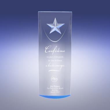 Blue Star-Dome Acrylic Award