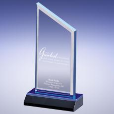 Colored Acrylic Awards - Blue Attitude Is Everything Acrylic Award