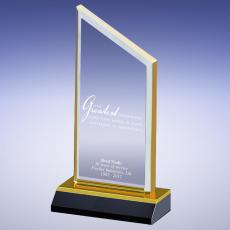 Colored Acrylic Awards - Gold Attitude Is Everything Acrylic Award