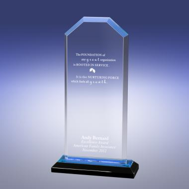 Blue Cornerstone Reflection Acrylic Award