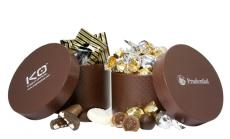 Home & Family - Large Hat Box with Twist Wrapped Truffles
