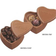 Home & Family - Milk Chocolate Heart box with 3 filled assorted truffles