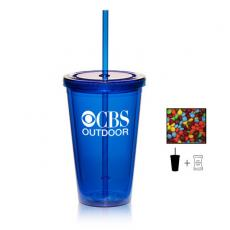 Candy, Food & Gifts - Tumbler Cup with Chocolate Littles - 16 oz. - Drinkware