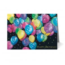 New Greeting Cards - Colorful Balloons Happy Birthday Card 25 Pack