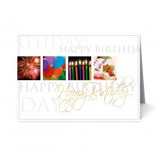 New Greeting Cards - Celebration Happy Birthday Card 25 Pack
