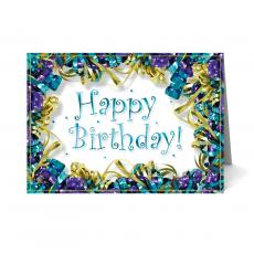 Birthday Cards - Ribbons Happy Birthday Card 25 Pack