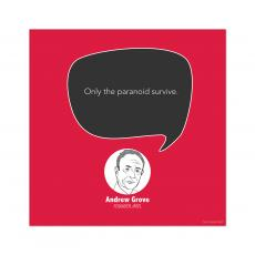 All Motivational Posters - Paranoid, Andrew Grove - Startup Quote Poster