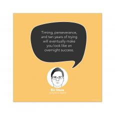 All Motivational Posters - Overnight Success, Biz Stone - Startup Quote Poster