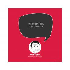 All Motivational Posters - Creative, David Ogilvy - Startup Quote Poster