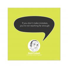 All Motivational Posters - Mistakes, David Packard - Startup Quote Poster