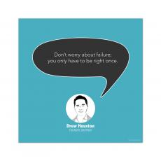 All Motivational Posters - Failure, Drew Houston - Startup Quote Poster