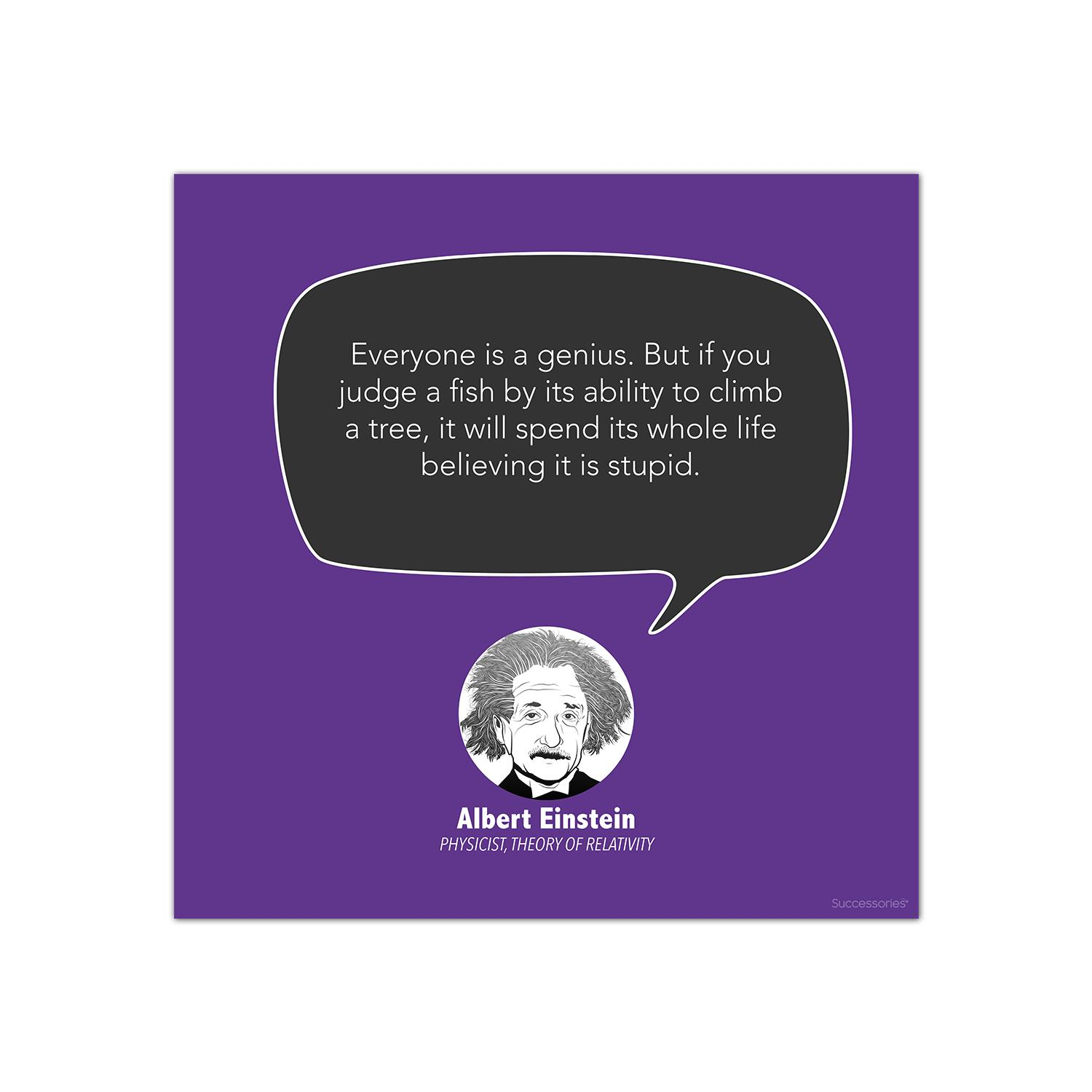 Everyone Is A Genius Albert Einstein Startup Quote Poster Cg344013