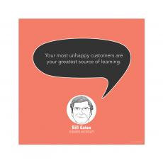 Contemporary Inspirational Art - Learning, Bill Gates - Startup Quote Poster