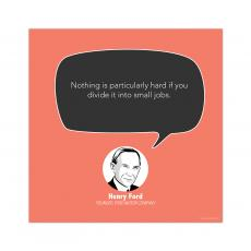 All Motivational Posters - Small Jobs, Henry Ford - Startup Quote Poster