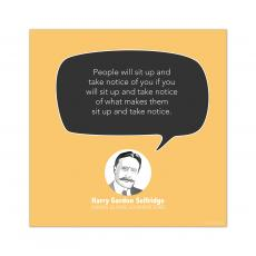 All Motivational Posters - Take Notice, Harry Gordon Selfridge - Startup Quote Poster