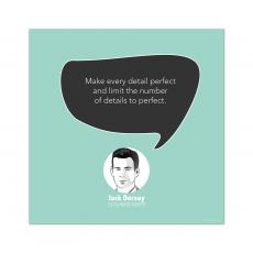 All Motivational Posters - Perfect Details, Jack Dorsey - Startup Quote Poster