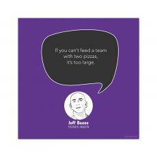 All Motivational Posters - Large Team, Jeff Bezos - Startup Quote Poster