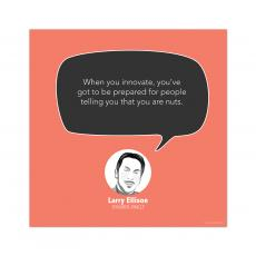 All Motivational Posters - Be Prepared, Larry Ellison - Startup Quote Poster