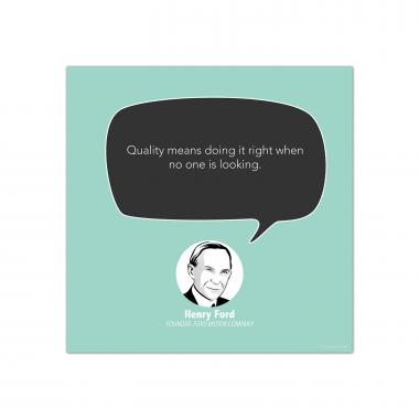 Quality, Henry Ford - Startup Quote Poster