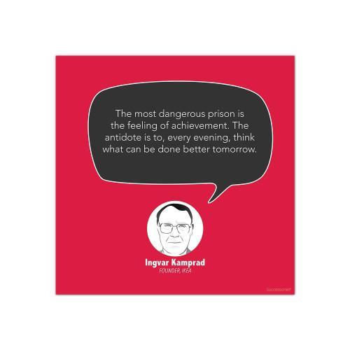 Achievement, Ingvar Kamprad - Startup Quote Poster