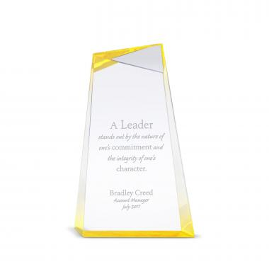 Gold Facets of Leadership Acrylic Award