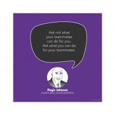 All Motivational Posters - Teammates, Magic Johnson - Startup Quote Poster
