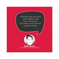 All Motivational Posters - Sleep, Martha Stewart - Startup Quote Poster