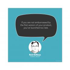 All Motivational Posters - First Version, Reid Hoffman - Startup Quote Poster