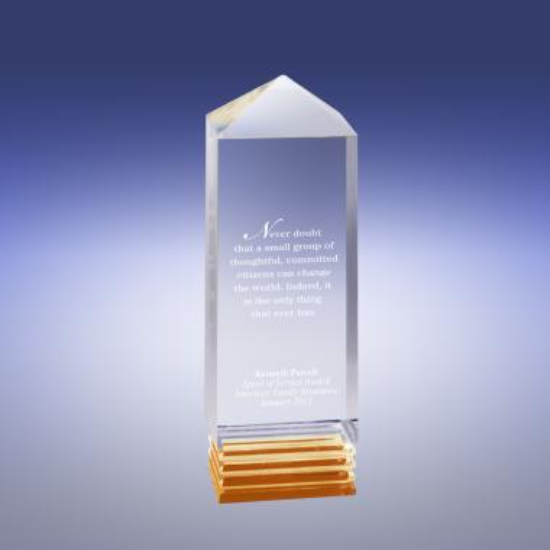 Gold Building Teamwork Acrylic Award