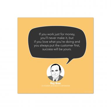Success, Ray Kroc - Startup Quote Poster