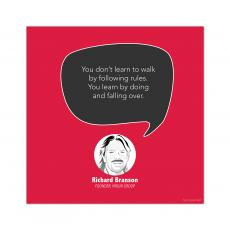 All Motivational Posters - Learn By Doing, Richard Branson - Startup Quote Poster