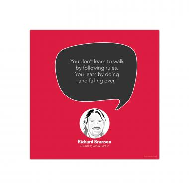 Learn By Doing, Richard Branson - Startup Quote Poster