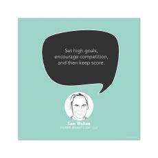 All Motivational Posters - Set High Goals, Sam Walton - Startup Quote Poster